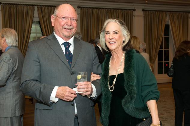 Sam Todd and Ramona Davis at the Bill Hobby Roast January 2015