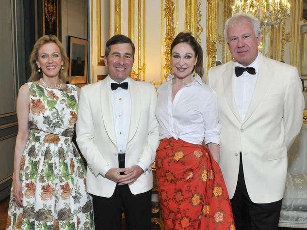 Susan Tolson, US Ambassador Charles Rivkin, Becca Cason Thrash, John Thrash at U.S. ambassdor to France dinner