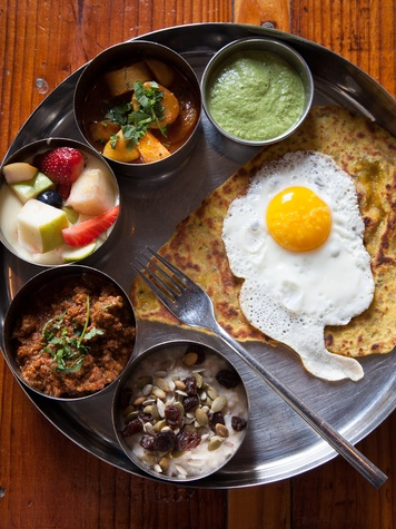 Texas Monthly 10 Houston plates May 2013 Morning Thali at Pondicheri