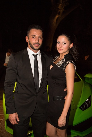 7 Gabrielle Green and Elias Alyassir at the Lamborghini party September 2014.