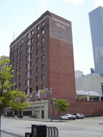 The Sam Houston Hotel downtown Houston exterior day