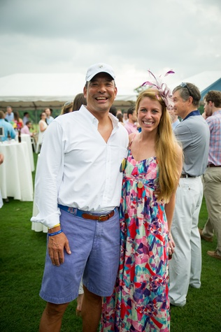Yellowstone Academy,  polo party, May 2015 Frank Tsuru - President of Yellowstone Academy's Board of Directors and Presley Bourquein