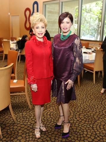 88 Margaret Alkek Williams, left, and Nini Hale at the Houston Grand Opera Ball luncheon February 2014