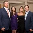Allyson Kuper, Collins Kuper, Lexie Waterman, Todd Burgamy at Chinquapin Flashback 75 Gala