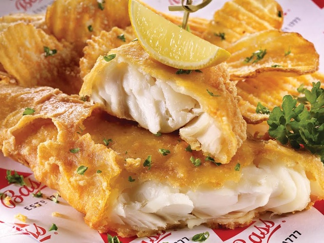 Dave & Buster's fish & chips