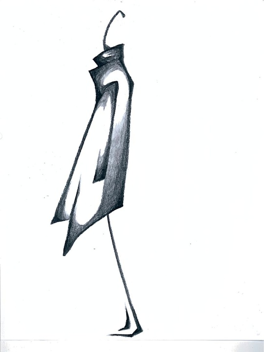 Fashion Week fall 2013, sketches, January 2013, Kimberly Ovitz