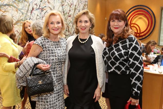 HGO Ball luncheon, March 2016, Pat Breen Denise Bush Bahr, Barbara Van Postman