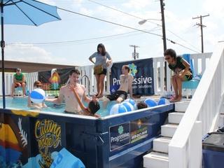 Dumpster pool at Design District Market