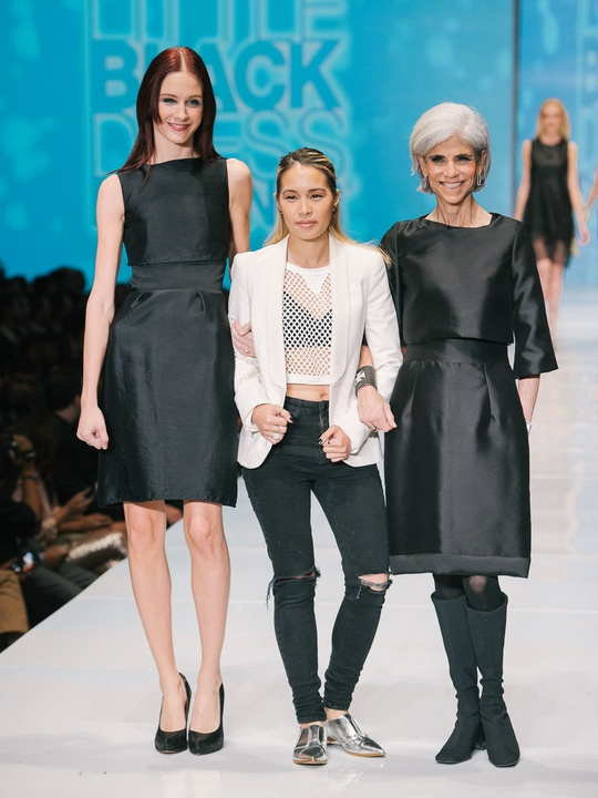 75 Fashion Houston Night 1 November 2014 Little Black Dress designer Jeanne Ly with Muse Judy Nyquist. mentor Viet Nguyen