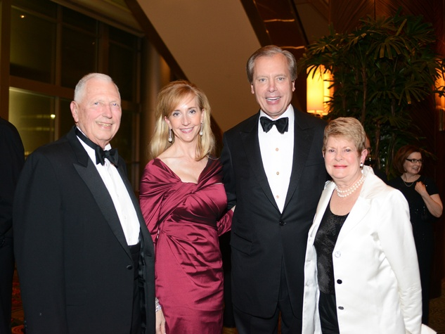 John Butler, from left, Tricia and David Dewhurst and Penny Butler at the Houston Community College Gala February 2014