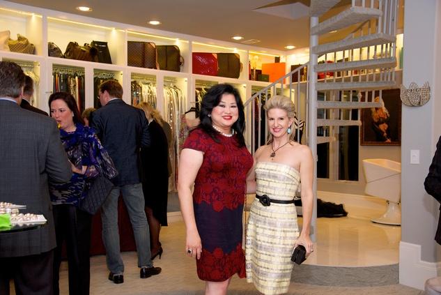 Gigi Huang and Lori Freese at Theresa Roemer's closet party