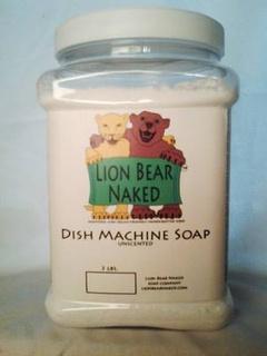 Lion Bear Naked Soap Company dishwashing detergent