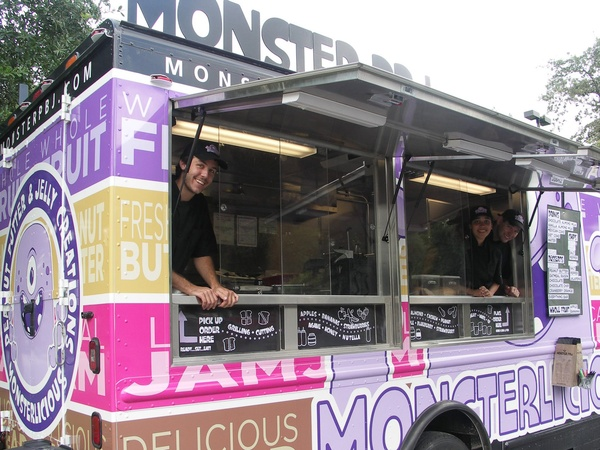 Monster PBJ, food truck, peanut butter and jelly
