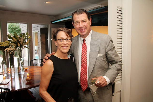 Page Kempner and Jay Courage at the Da Camera Jason Moran launch party September 2014