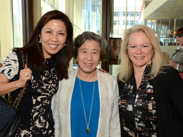 12 Diana Sun, from left, Zhen Xian Sun and Henson Bucher at the Dec My Room luncheon October 2014