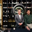 13 Tom Dempsey, left, and George MacDonald at the Artesa wine tasting at Cru March 2014