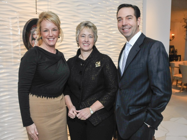002, CultureMap CEO reception, January 2013, Alyce Alston, Mayor Annise Parker, Jim Nelson