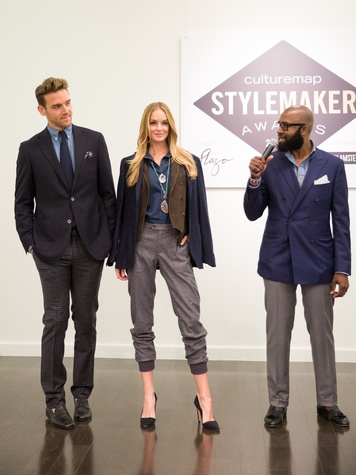 Nelson Huff at the CultureMap Stylemaker Awards