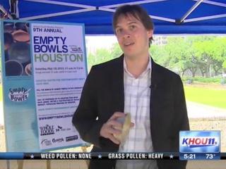 Empty Bowls Houston Food Bank Tyler Rudick KHOU CultureMap Moment