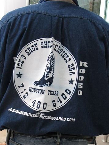8, RodeoHouston, Larry White, boot shiner