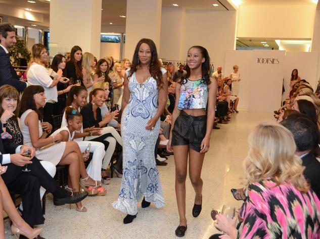 Yolanda Adams, left, and Taylor Crawford at Fashion Gene at Tootsies May 2014