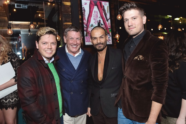David Peck, from left, Neil Hamil, Todd Ramos and Ian Kretz at the Page Parkes & Ruggles Black Holiday Soiree December 2014
