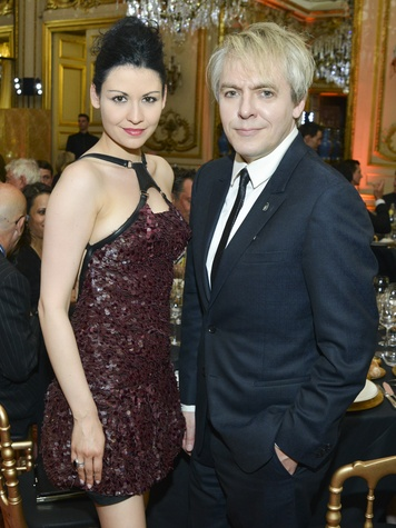 Nefer Suvio and Nick Rhodes at Luxembourg Palace dinner June 2013