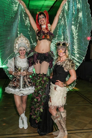 4 Anastasia Marshall, from left, Absinthe Fairy and Holly Hagerman at The Patroleum Club Halloween party November 2014