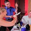 Texas de Brazil, skewer, meat, couple