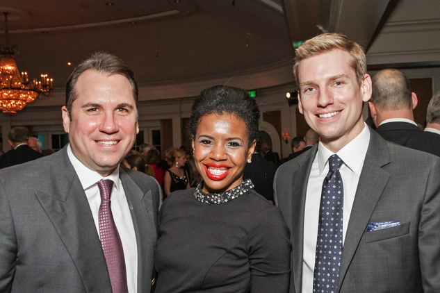 Dean Giuffre, from left, Claire Cormier Thielke and Kyle Dutton at the Cornerstone Dinner February 2015
