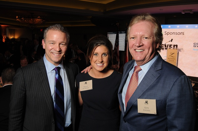 Stephen Cannon, from left, Kelly McHugh and Ken Enders at the Johnny Mac Soldiers Fund Inaugural Houston Gala April 2015