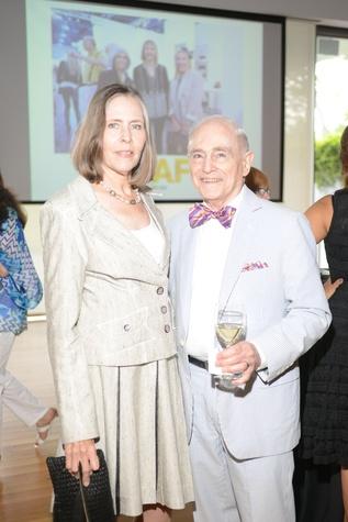 2 Anita Garten and Mickey Rosenau at the HFAF Launch at the Asia Society June 2014