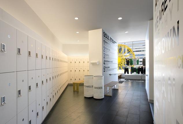 SoulCycle locker room