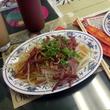 Green papaya and beef salad at Tam Deli in Austin