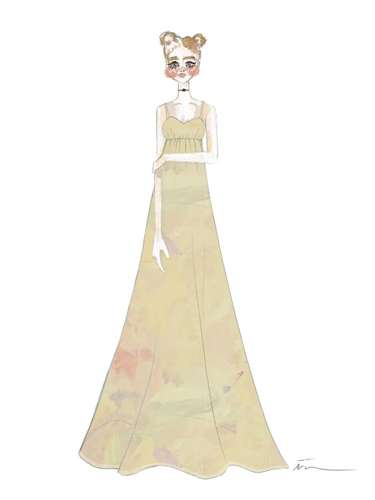 Sketch of Isabella Rose Taylor spring 2015 collection