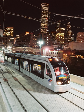 METRO, Houston, skyline, light rail