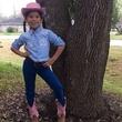 Go Texan Day February 2014 cutest girl by tree