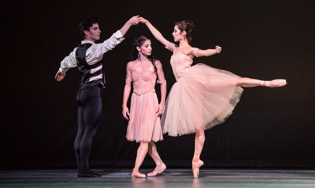 Houston Ballet Four Premieres September 2013 Passion with Joseph Walsh, Karina Gonzalez and Lauren Strongin choreographed by James Kudelka