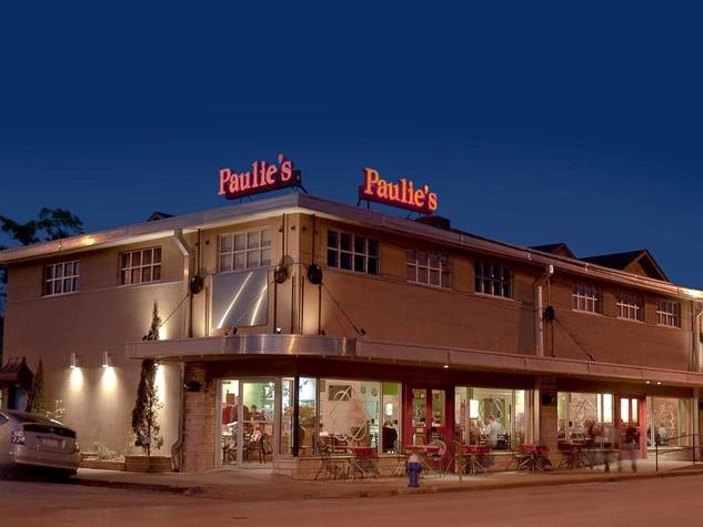Paulie's restaurant Houston at night