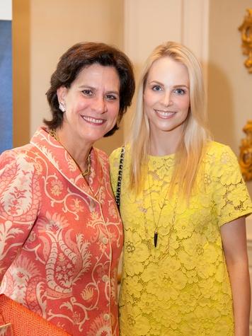 Suzann Richardson, left, and Kathleen Jennings at the DePelchin Children's Center luncheon April 2014