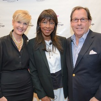 Jerri Duddlesten Moore, from left, Natalie Cole and Jim Moore at the Council on Alcohol and Drugs luncheon May 2014