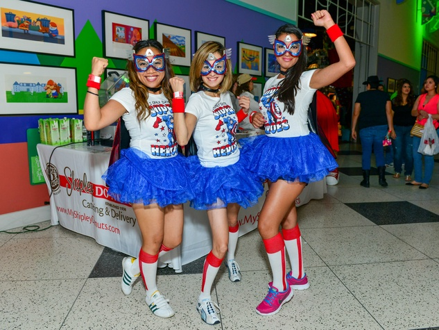 23 Paula Ocampo, from left, Kim Nguyen and Natalia Diaz at the Children's Museum Freak Out Friday June 2014
