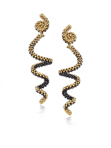 Chris Davies coiled earring