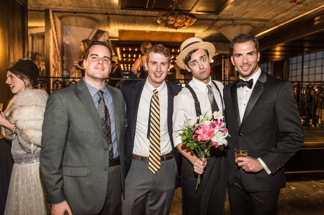 "Brendan Bourque-Sheil, Kevin Sheil, ""Buster Keaton"", David Matranga at Stages Gala"