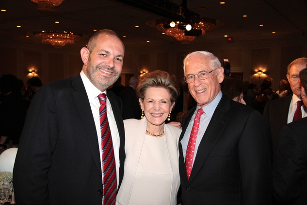 Shawn and Barbara Hurwitz, from left, with Dr. John Mendelsohn at the Houston Living Legend fundraiser dinner May 2014