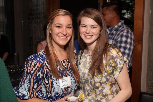 Ally Hatz, left, and Katie Church at Casa de Esperanza Young Professionals party July 2014