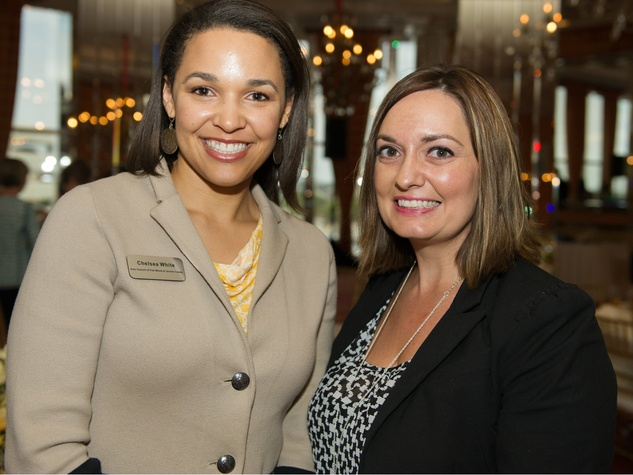 Chelsea White, Beth Hutson, Fort Worth Art Council Heart of Gold Luncheon