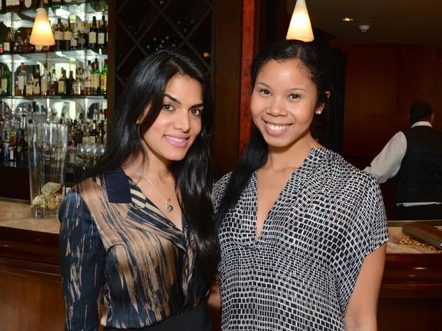 8 Nina Magon, left, and Mia Yamada at the Dec My Room luncheon October 2014