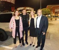 News, Shelby, Patrick Bruel center, Nathalie and Jean Francois Bonnete, November 2014