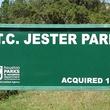 T.C. Jester Park sign
